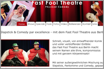 Homepage vom Fast Fool Theatre