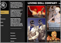 Homepage der Living Doll Company