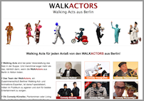 Homepage der Walkactors aus Berlin